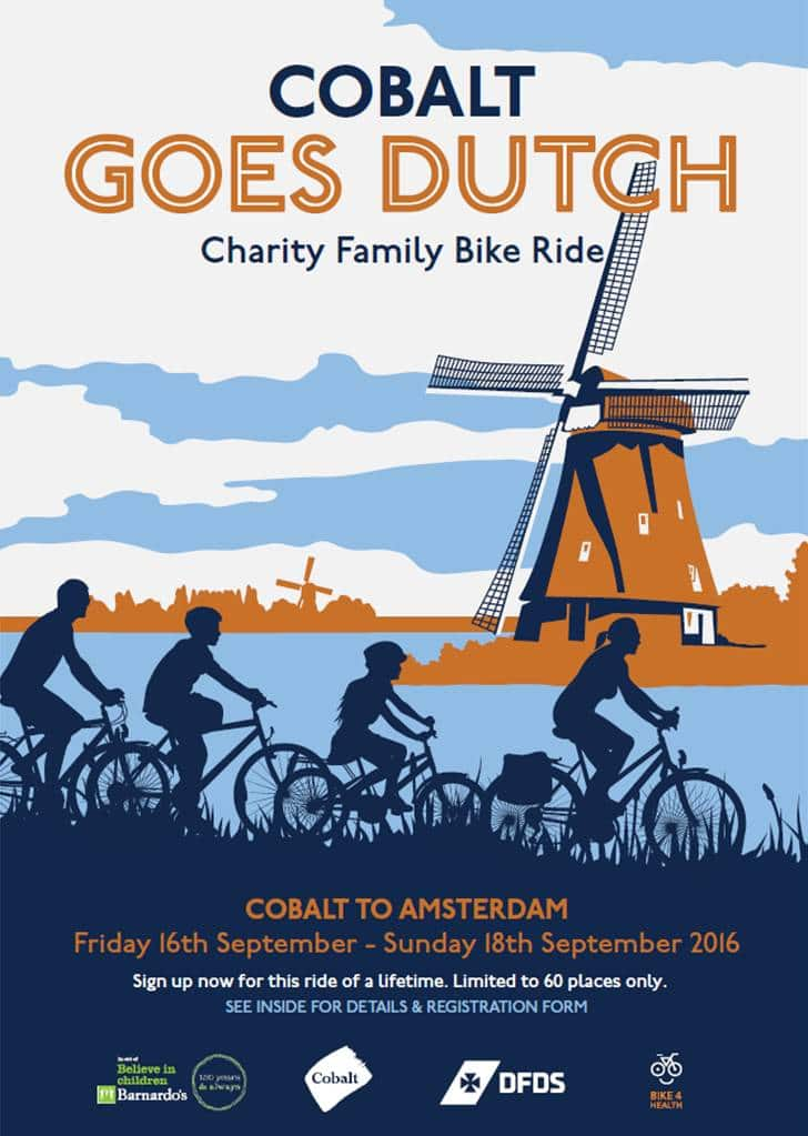 Cobalt family charity cycling trip to Amsterdam